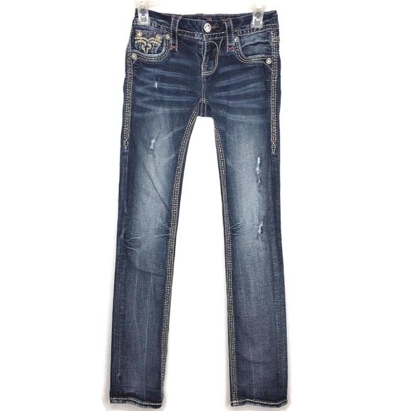 Rock Revival Denim - ROCK REVIVAL Raven Straight Leg Embellished Jeans